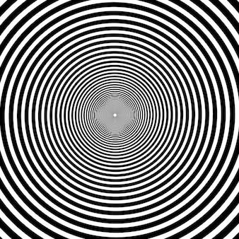 Espiral psicodélico con rayos radiales.