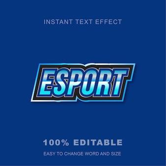 Esport game efecto de texto