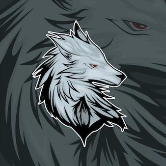 Esport gamer logo wolf