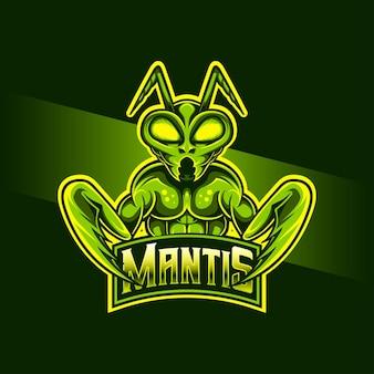 Esport logo icono de personaje de mantis