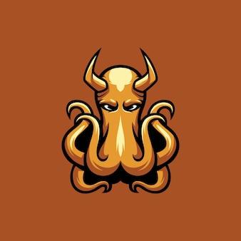 Esport de la mascota del diablo del pulpo