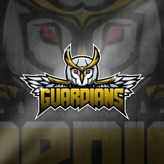 Esports mascot logo team owl guardians squad