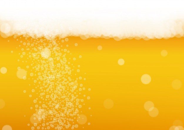 Espuma de cerveza. craft lager splash. oktoberfest de fondo.
