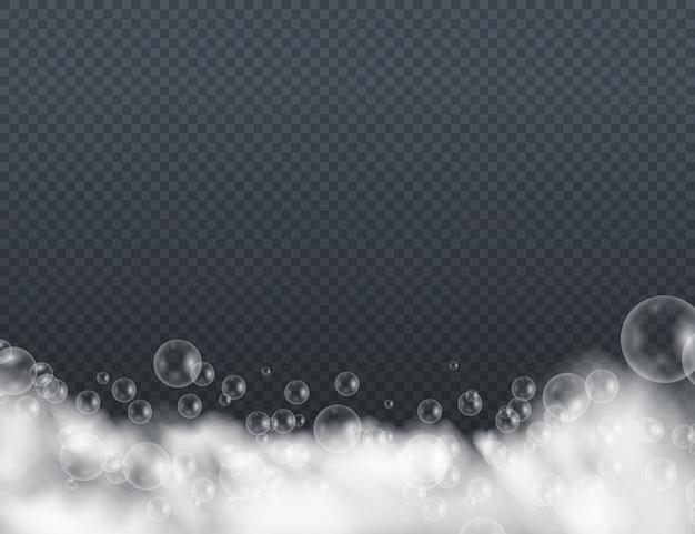 Espuma de espuma con burbujas