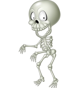 Esqueleto humano divertido de dibujos animados