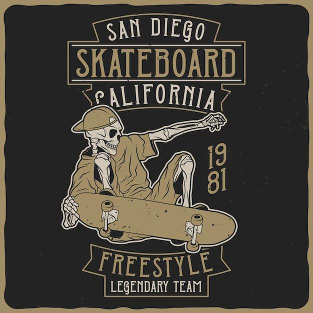 Esqueleto en la patineta