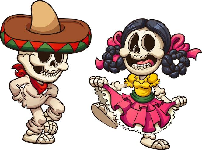 Resultado de imagen de esqueletos mexicanos