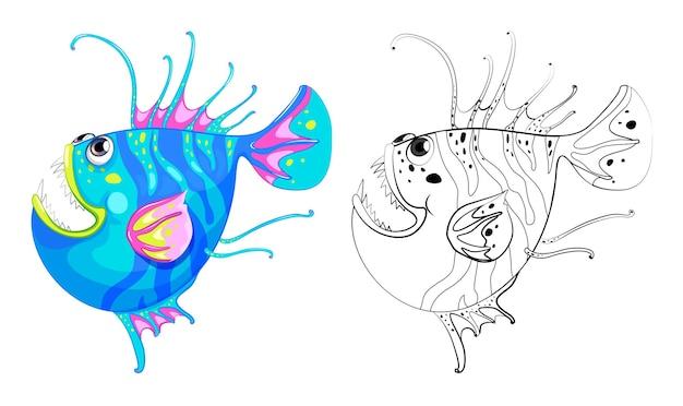 Esquema animal para peces de fantasía.