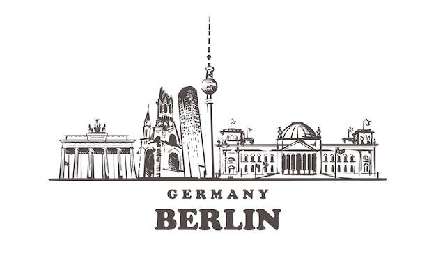 Esquema de las atracciones de berlín, alemania