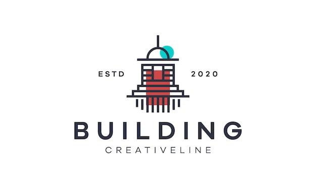 Esquema de construcción de plantilla de logotipo