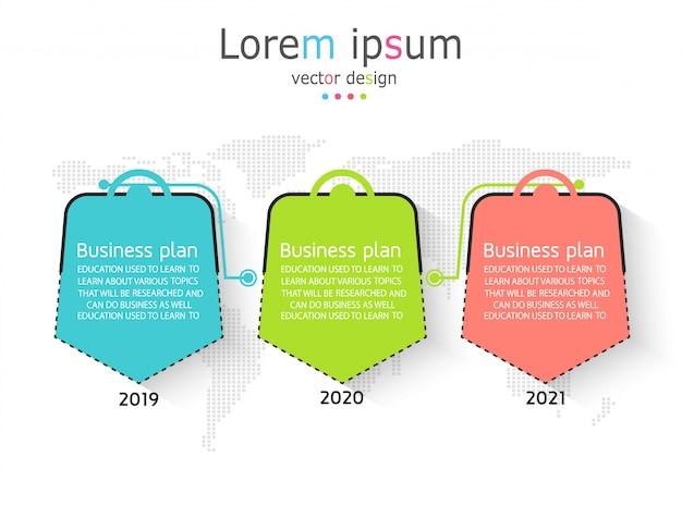 Esquema para la educación y los negocios utilizados en la enseñanza también con tres opciones.