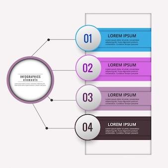 Esquema infográfico de colores