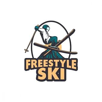 Esquí de invierno snowboard gafas de esquí gafas ilustración
