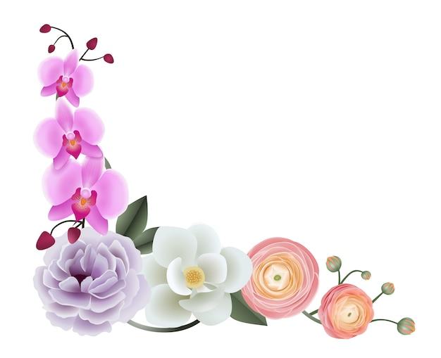Esquina floral decorativa
