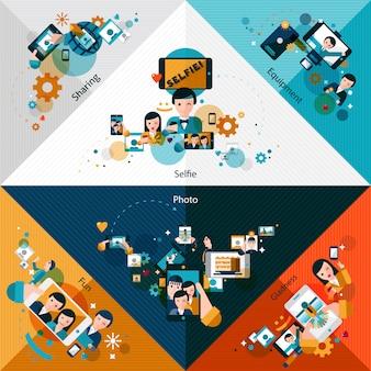 Esquinas de fotos móviles