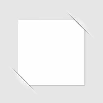 Esquinas del marco de fotos en blanco. vector.