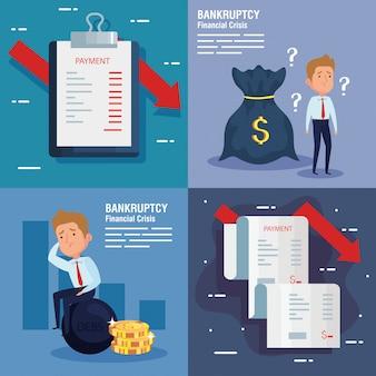 Establecer banners crisis financiera quiebra