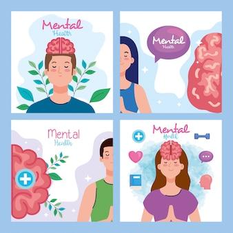 Establecer banners de salud mental con iconos