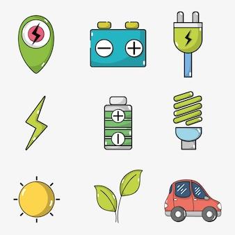 Establecer la batería de coche eléctrico y la tecnología de recarga de energía