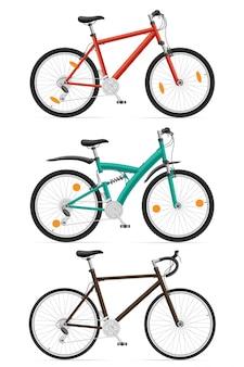 Establecer bicicletas deportivas