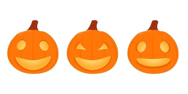 Establecer calabazas para halloween