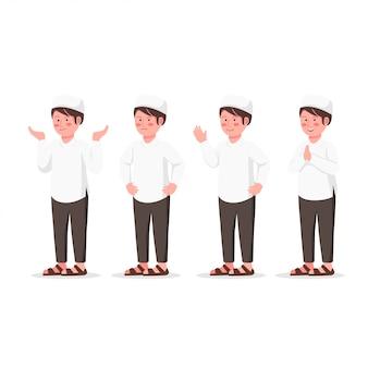 Establecer el carácter de diseño de expresión de arabian kid
