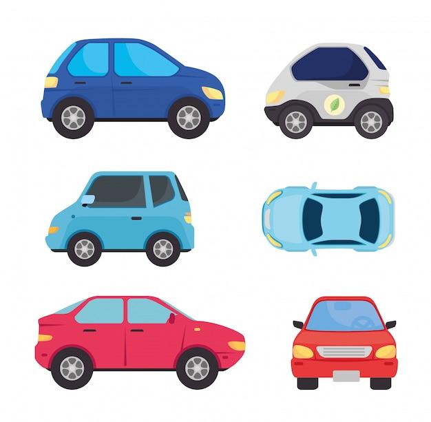 Establecer la colección de automóviles eléctricos y automóviles de combustible de aceite