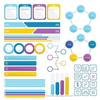 Establecer colección de infografías