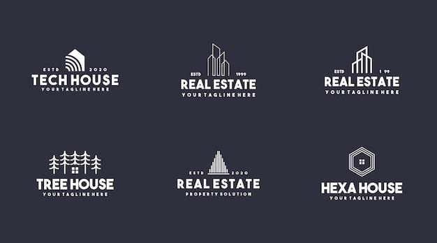 Establecer colección logo inmobiliario