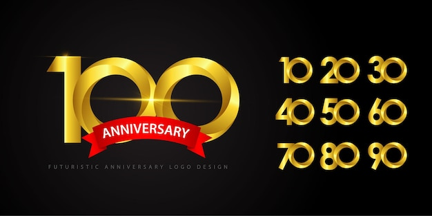 Establecer el concepto de logotipo de aniversario.