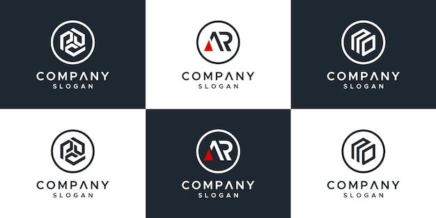 Establecer diseño de logotipo de letra