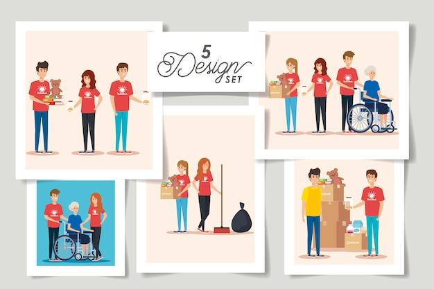 Establecer diseños de donación de caridad