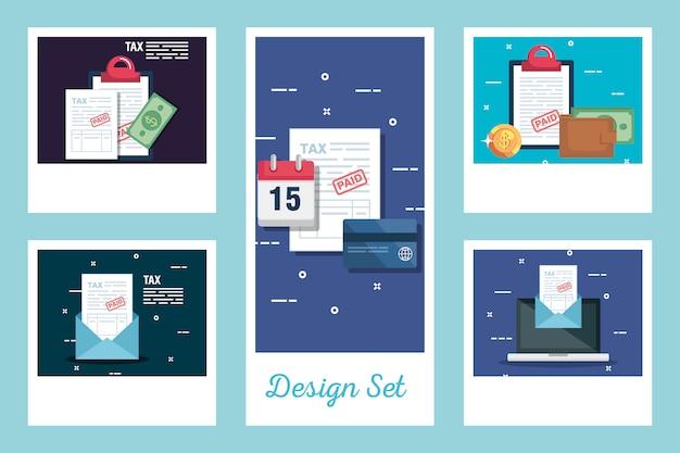 Establecer diseños de impuestos e iconos