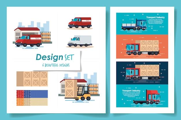 Establecer diseños de transporte industrial