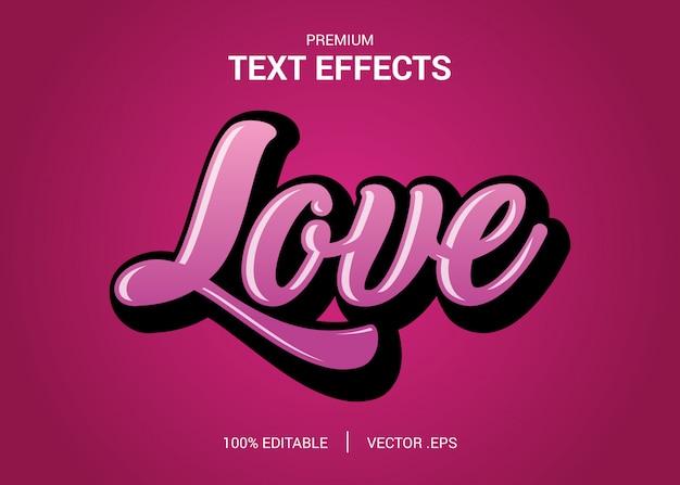 Establecer efecto de fuente editable de estilo de texto de amor púrpura rosado abstracto elegante