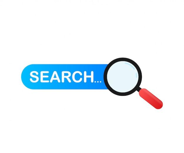 Establecer elemento de barra de búsqueda, conjunto de cuadros de búsqueda ui plantilla aislada