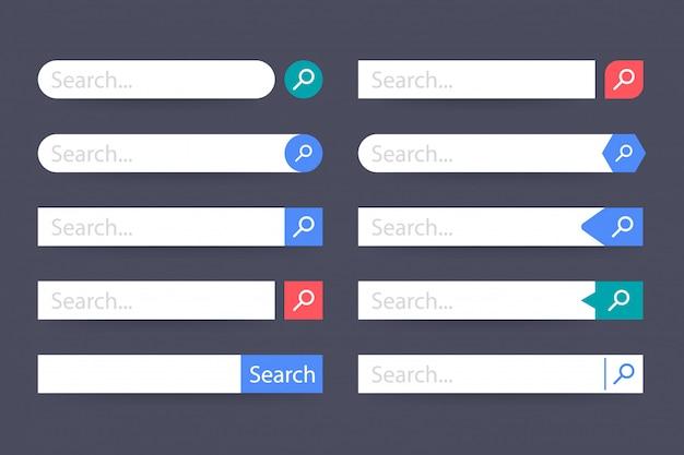 Establecer elemento de barra de búsqueda, conjunto de cuadros de búsqueda ui plantilla