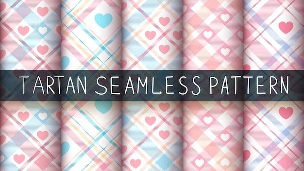Establecer estrella tartán de patrones sin fisuras