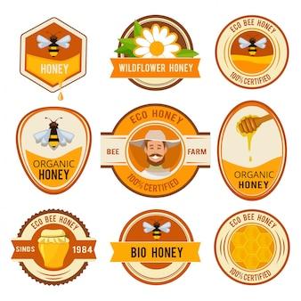 Establecer etiquetas para la miel.