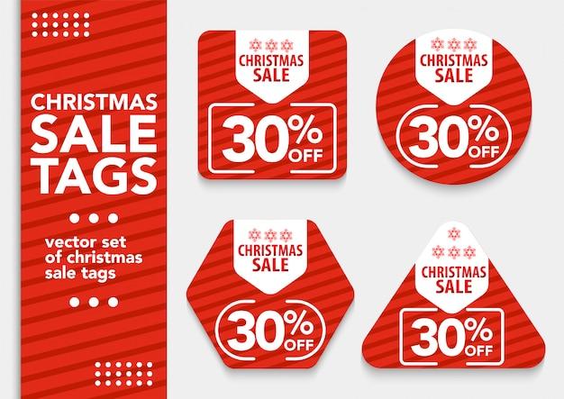 Establecer etiquetas de venta de navidad