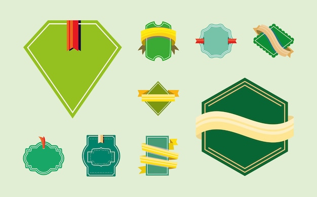 Establecer etiquetas verdes