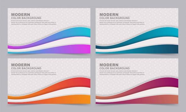 Establecer fondo de banner abstracto con colores degradados