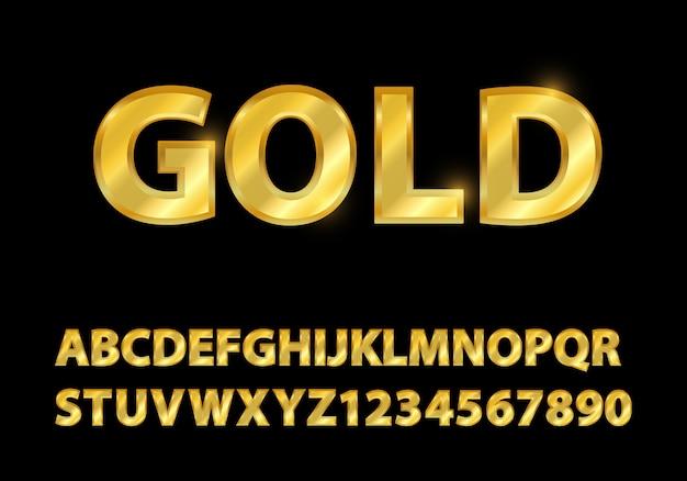 Establecer fuente de oro formas de composición.