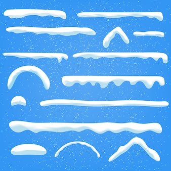 Establecer gorras de nieve