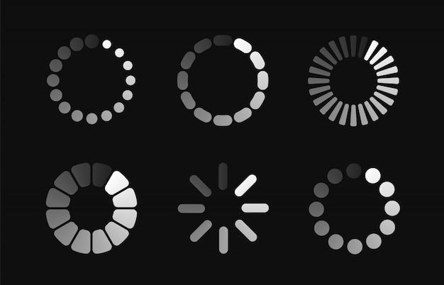 Establecer icono de carga. barra de progreso para cargar el proceso de descarga ronda.