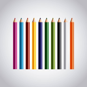 Establecer icono de lápices de colores