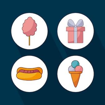 Establecer iconos para la celebración de festa junina