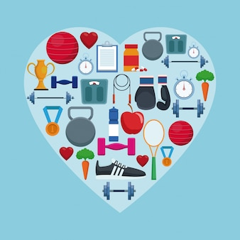 Establecer iconos de fitness y salud