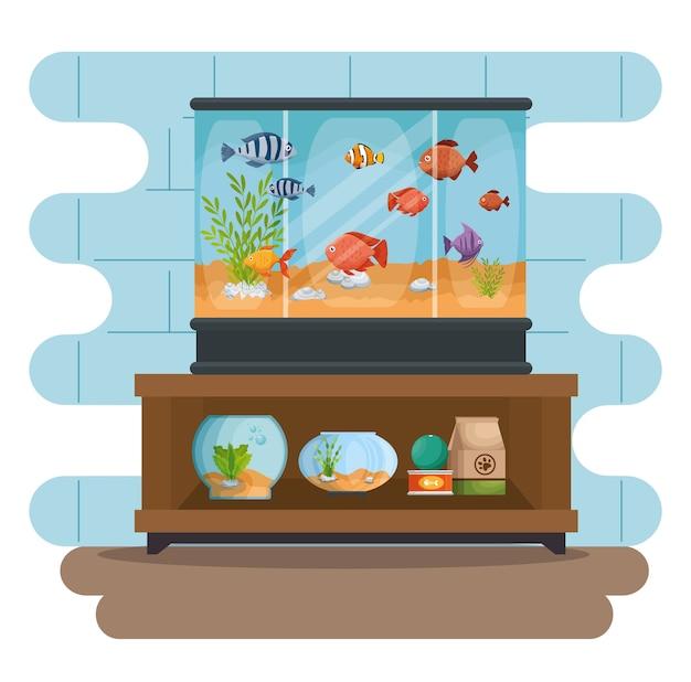 Establecer iconos hermosos acuarios