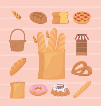 Establecer iconos de pan